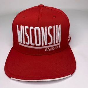 Wisconsin Badgers Adidas Climalite Snapback Hat